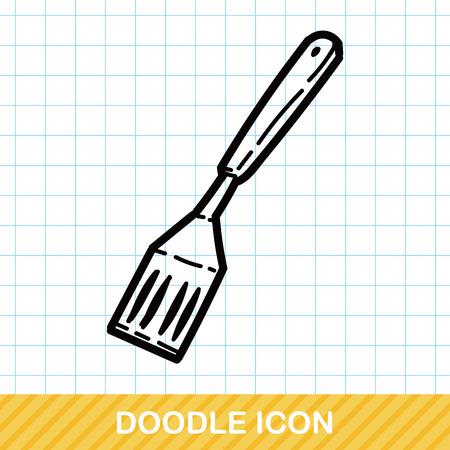 spatula: Spatula color doodle