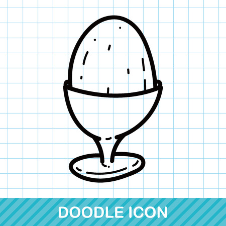 quick drawing: egg cup color doodle