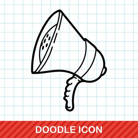 loudspeaker: loudspeaker color doodle