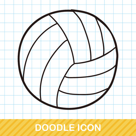 win win: volleyball doodle Illustration