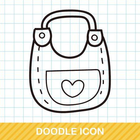 bibs: baby Bibs doodle Illustration