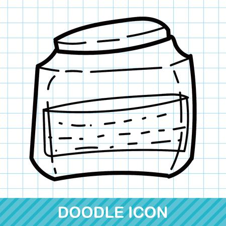 Glazen potten kleur doodle Vector Illustratie