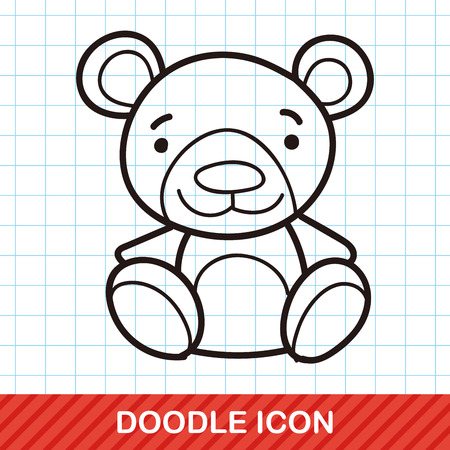 baby bear: baby bear doodle Illustration
