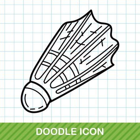 badminton sport symbol: badminton doodle