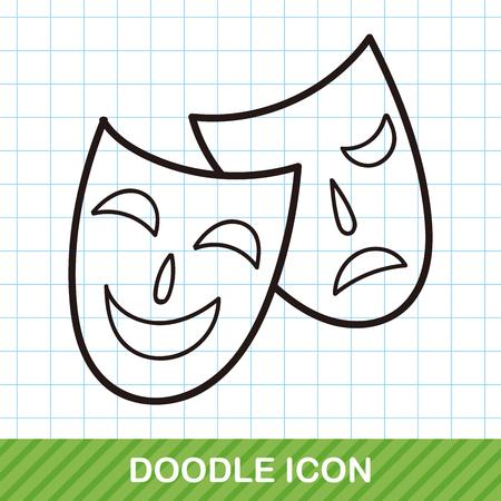 decoration decorative disguise: opera mask doodle