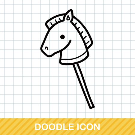 toy horse doodle Illustration