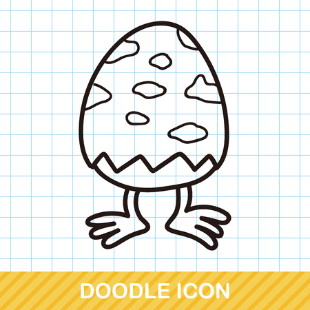 decorative design: easter egg doodle
