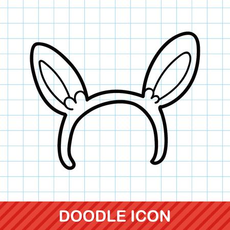 alice band: Headband doodle