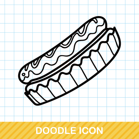 pastry: pastry doodle Illustration