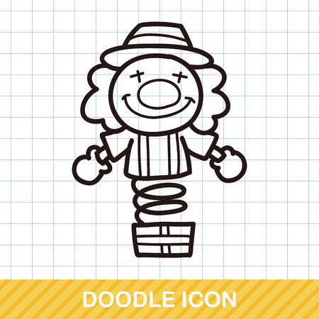 birthday clown: Clown doodle