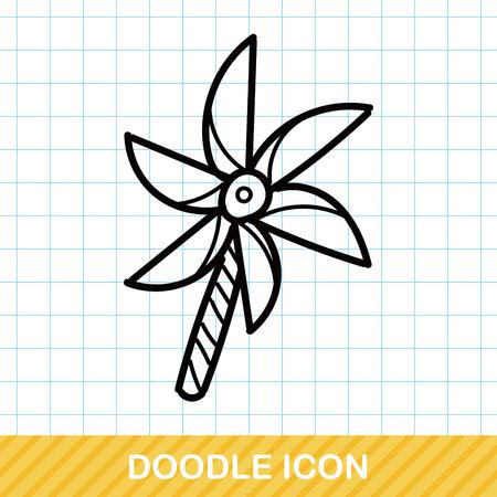 pinwheel toy: Windmill doodle