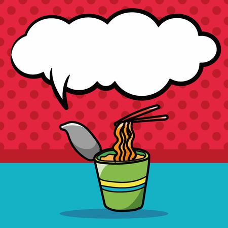 noodle: noodle doodle, speech bubble Illustration