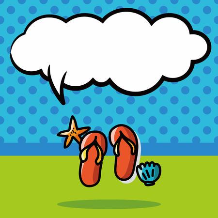 flop: flip flop color doodle, speech bubble