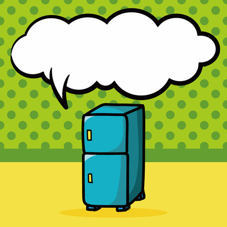 refrigerator color doodle, speech bubble