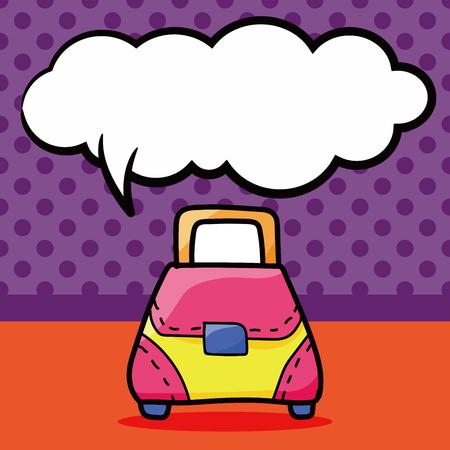 goodie: bag color doodle, speech bubble