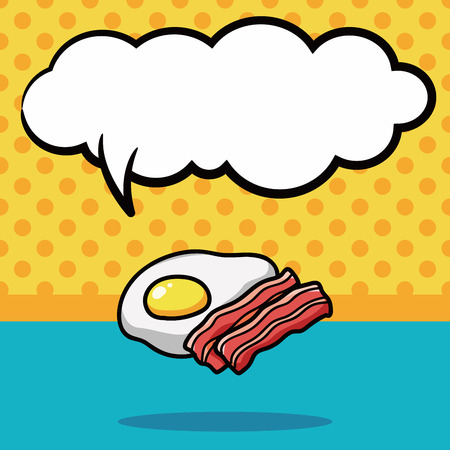 sizzle: breakfast doodle, speech bubble Illustration
