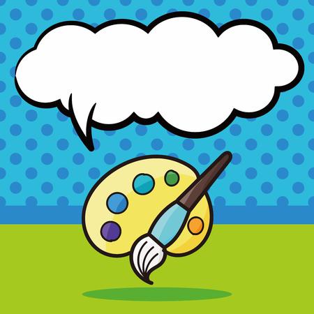 pallette: Palette de couleur doodle, bulle de la parole