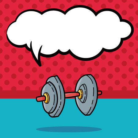 weightlifting: Weightlifting doodle, speech bubble