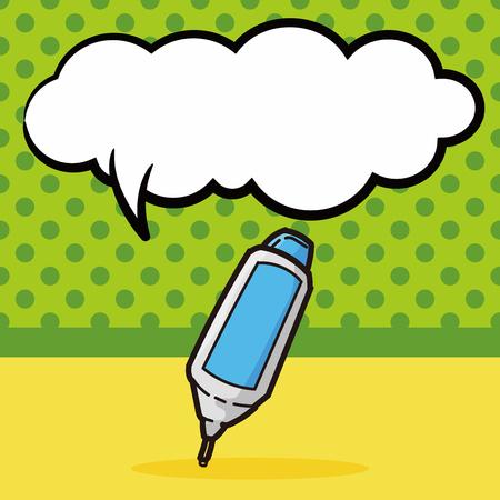 correction: Correction Fluid color doodle, speech bubble Illustration