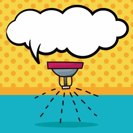 sprinkler: Sprinklers color doodle, speech bubble