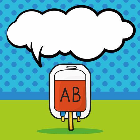 transfuse: blood bag color doodle, speech bubble