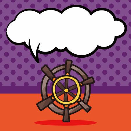 rudder: Rudder color doodle, speech bubble