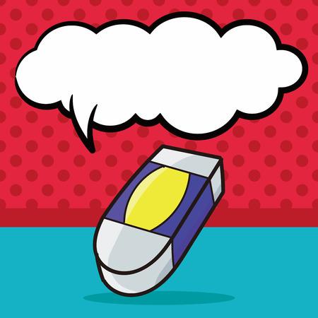 eraser: eraser color doodle, speech bubble