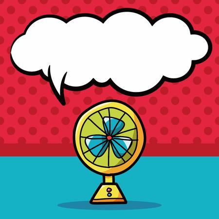 color fan: fan color doodle, speech bubble Illustration