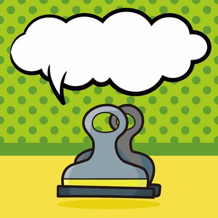 papeleria: clip de papeler�a de color garabato, la burbuja del discurso Vectores