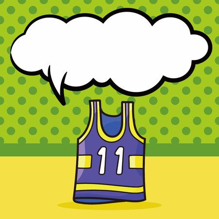 sports wear: sports wear doodle, speech bubble