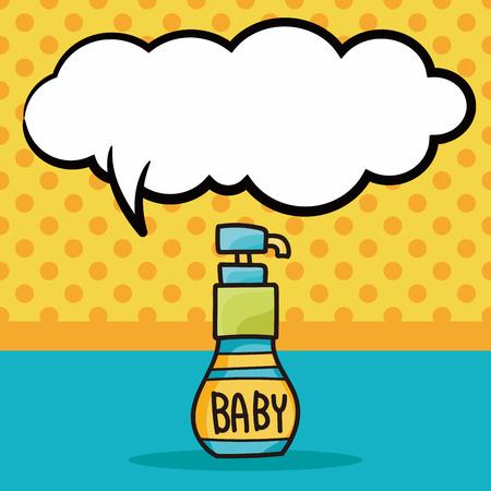 body wash: Body Wash doodle, speech bubble Illustration