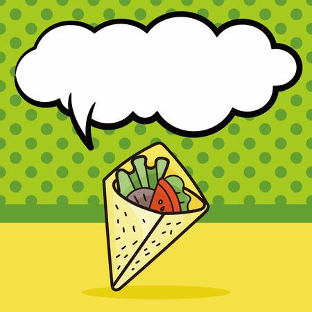 say cheese: sandwich doodle, speech bubble