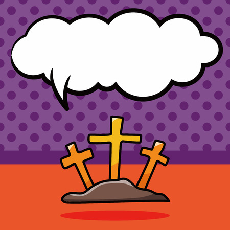pray: Cross doodle, speech bubble