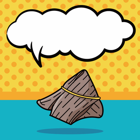 bubble talk: Rice dumplings doodle, speech bubble
