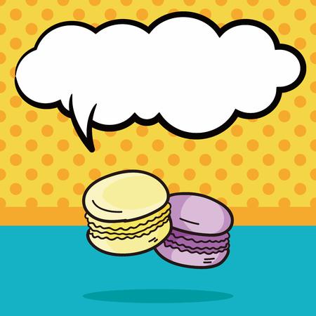 macaron: Macaron doodle, speech bubble