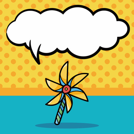 wind mill toy: Windmill doodle, speech bubble