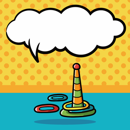 educational: educational toys doodle, speech bubble