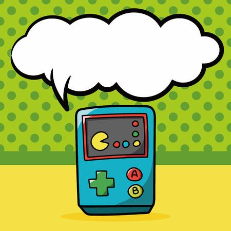 game console: game console doodle, speech bubble