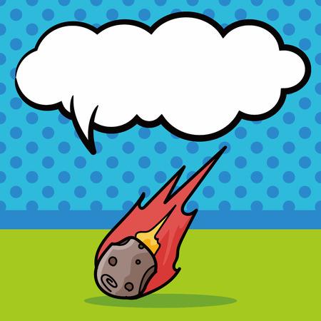 meteorite: Meteorite doodle, speech bubble