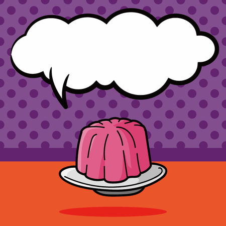 cheesecake: jelly doodle, speech bubble
