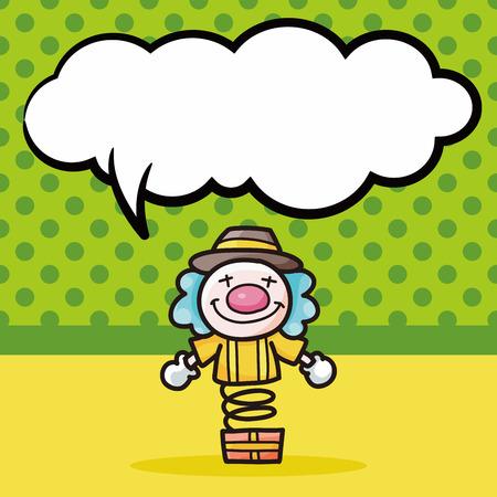birthday clown: Clown doodle, speech bubble