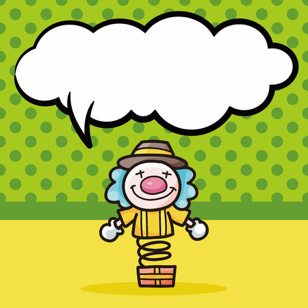 clown cirque: doodle Clown, bulle