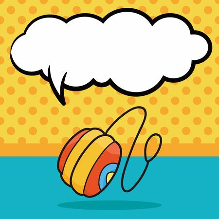 play yoyo: yo-yo doodle, speech bubble Illustration