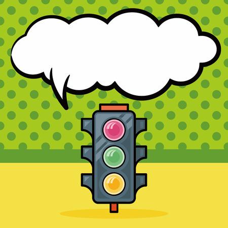 traffic light doodle, speech bubble