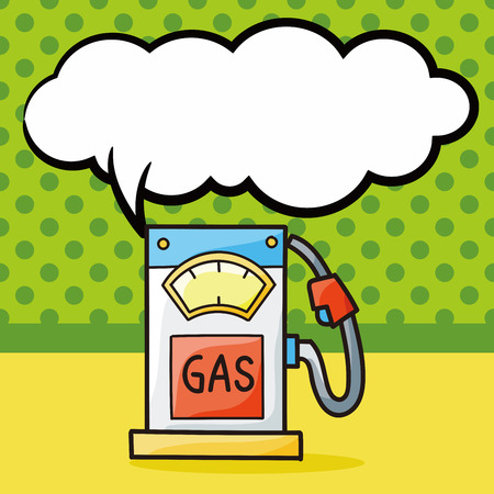 gasoline doodle, speech bubble