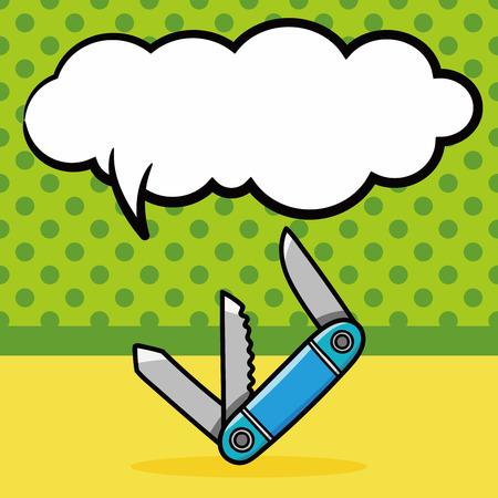utility: Utility knives doodle, speech bubble