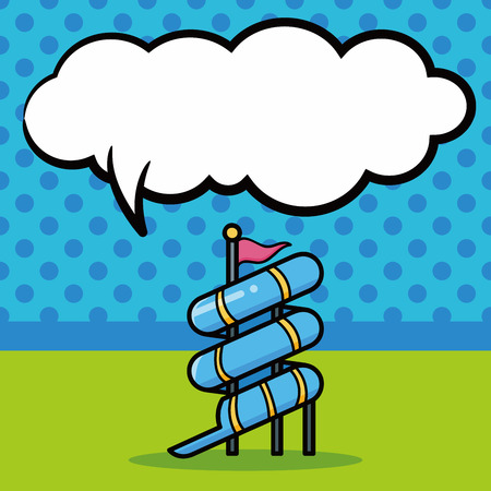 water slide: water slide doodle, speech bubble