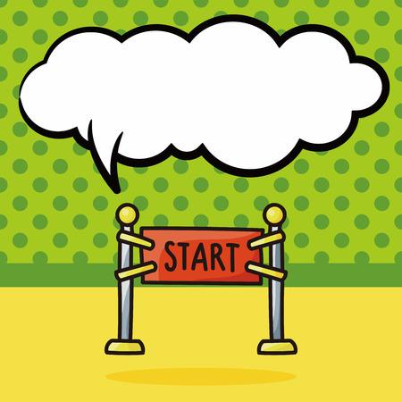 start line: start line doodle, speech bubble