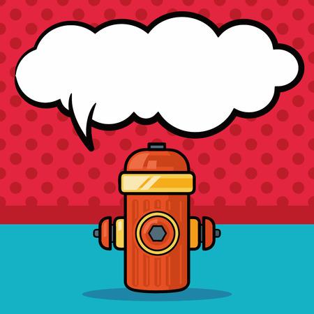 fire hydrant: Fire hydrant doodle, speech bubble