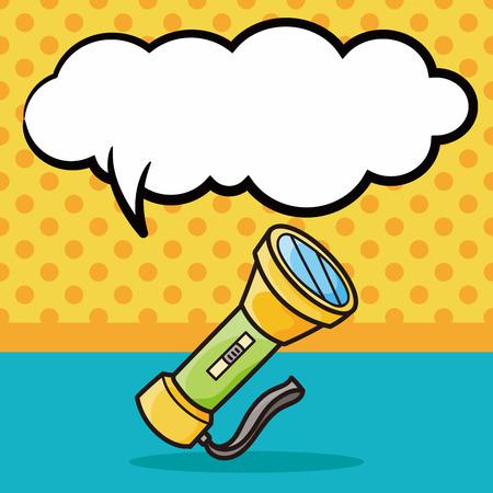 flashlight: flashlight doodle, speech bubble
